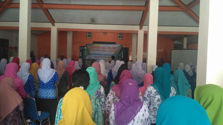 Desa Sawahan Ponjong Adakan Seminar Penguatan Pendidikan Karakter Anak Usia Dini