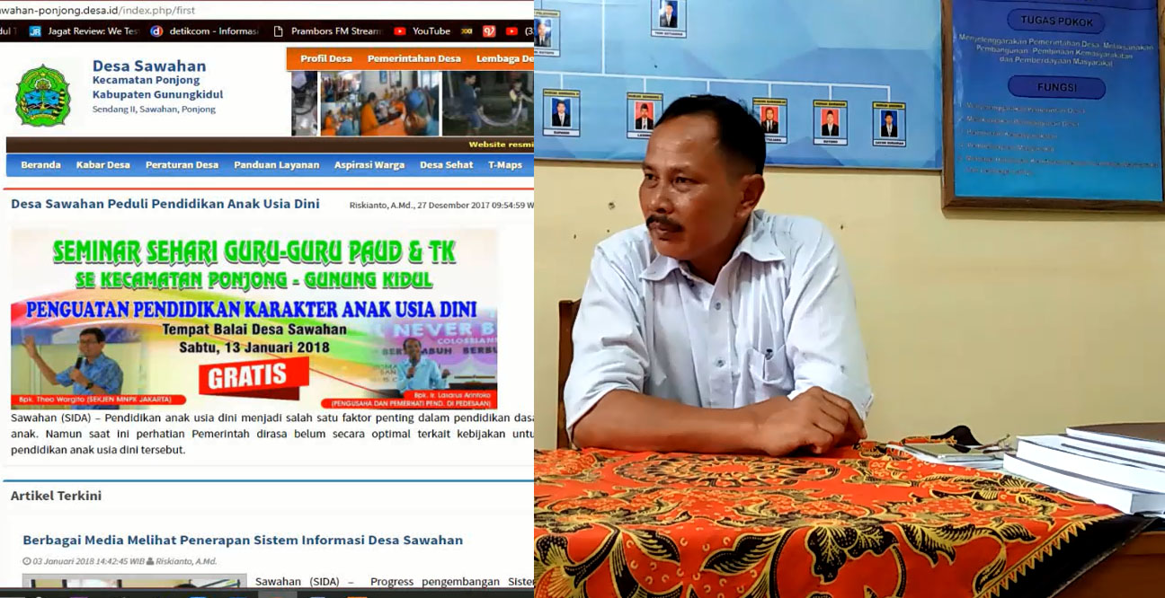 SID Sawahan Menjadi Pusat Informasi Di Gunungkidul