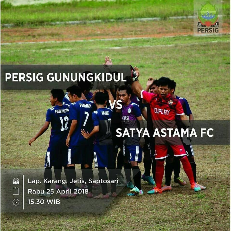 Persig Gunungkidul Bagi Score 3-3 Lawan Satya Astama Saptosari