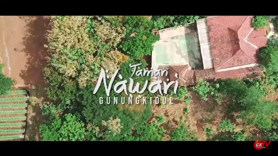 Wisata Gunungkidul: Keindahan Taman Bunga Nawari Bunga Grogol dari Udara Sinematik