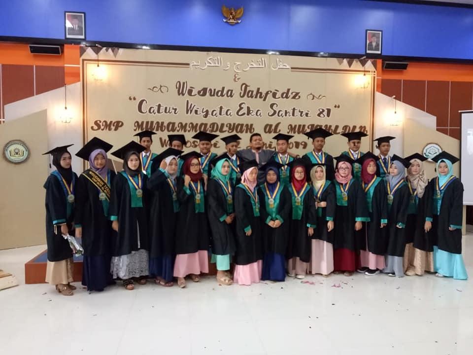 SMP Muhammadiyah Al Mujahidin Wisuda 81 Siswa Dengan Ratusan Prestasi