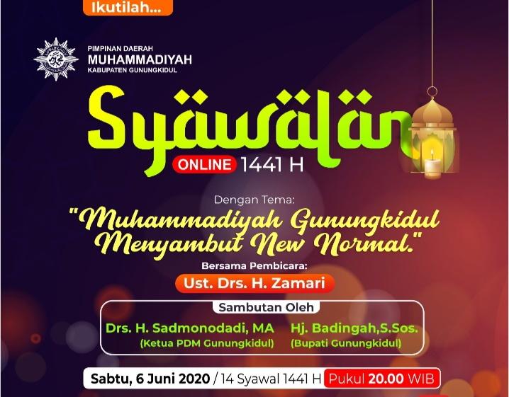 Muhammadiyah Gunungkidul Adakan Syawalan Online Perdana, Ribuan Yang Menonton di Kedua Channel Ini